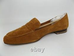 Tory Burch RUBY 15 mm Loafer Slip on Shoe Womens Size 9.0 M, Natural Suede 20535