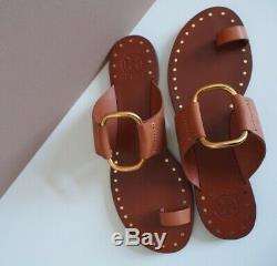 Tory Burch Ravello Studded Sandals Color Tan Size 7