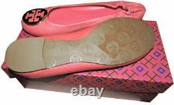 Tory Burch Reva Ballerina Flats Pink Tumble Leather Ballet Shoes Ballerina 8.5