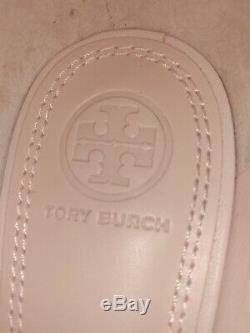 Tory Burch Rosalind Ballet Leather And Suede Sea Shell Pink Flat Shoes Size 7.5
