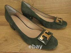 Tory Burch Royal Suede Green Gigi Pumps Shoes 9 M $298