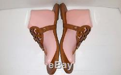 Tory Burch Sandals leather Color Brown Size 11