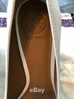 Tory Burch Selma wedges shoes Sandals heels size 10 white