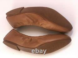 Tory Burch Shoes Size 9 Leather Ballet Flats Royal Tan Camel Clair