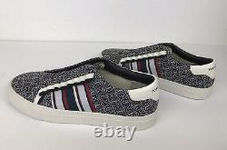 Tory Burch Sport Slip On Ruffle Sneakers Shoes #55697 Size 6.5 Navy