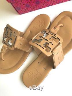 Tory Burch Square Miller Patent Sandal Slide SZ 8.5 Mint