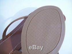 Tory Burch Terra Thong Flip Flop Sandals in Royal Tan Sz 7 New In Box FREE SHIP