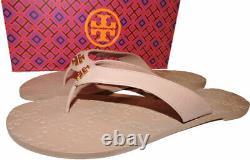 Tory Burch Thongs Monroe Sandals Blush Leather Flat Shoes Flip Flops 10.5 Slides