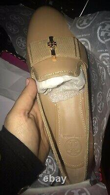 Tory Burch Trudy Ballet Flats Shoes Size 6.5 M Beige Patent Leather