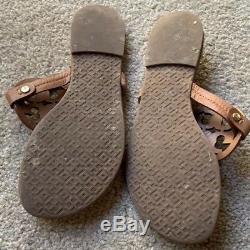 Tory Burch Vintage Vachetta Miller Sandals Brown Flip Flops Millers Size 6.5 M