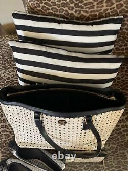 Tory Burch Weave Blue Shoulder Bag, with Matching Wallet and Shoes size 11