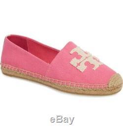 Tory Burch Women's Crazy Pink Logo Elisa Espadrilles Flat Shoes