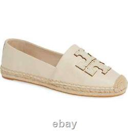 Tory Burch Women's INES Espadrilles New Cream Gold Flats Shoes