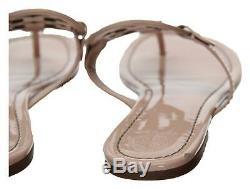 Tory Burch Women's Miller Thong Sandals Sea Shell Pink Patent Leather Sz 9