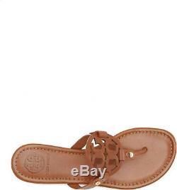 Tory Burch Women's Miller Thong Sandals Vintage Vachetta Leather Sz 6,7,8,9