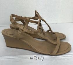 Tory Burch Women's Miller Wedge Sandal Size 8.5M Dusty Cypress