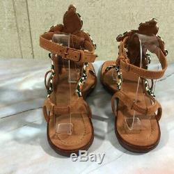 Tory Burch Women's Size 8.5M Palisade Gladiator Sandals Leather Sole