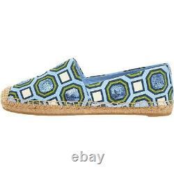 Tory Burch Womens Cecily Blue Canvas Espadrilles Shoes 8 Medium (B, M) BHFO 6834