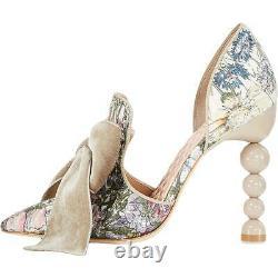 Tory Burch Womens Clara Taupe Bow Loafer Heels Shoes 8.5 Medium (B, M) BHFO 1644