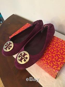 Tory Burch Womens Classic Reva Leather Ballet Flats Shoes Size 7.5