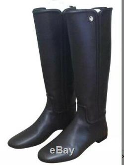 Tory Burch Womens Irene Black Riding Boots Shoes 7 Medium