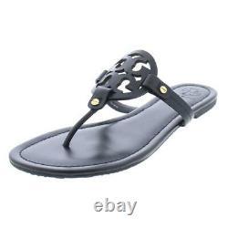 Tory Burch Womens Miller Black Slide Sandals Shoes 9 Medium (B, M) BHFO 8055