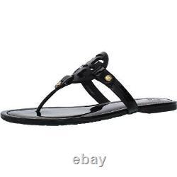 Tory Burch Womens Miller Black Thong Sandals Shoes 7.5 Medium (B, M) BHFO 7847