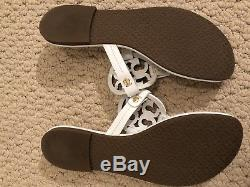 Tory Burch Womens Miller White Patent Leather Thong Flip Flops Sandals 7M