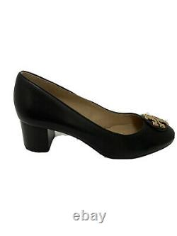 Tory Burch shoes heels Janey 50MM black calf leather 7