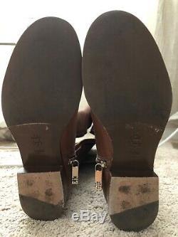 Tory Burch tall brown womens boots 7.5 7 1/2