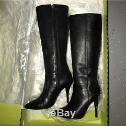Tory burch Bernice Pointy Toe Heeled Riding Boots 8 black