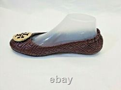 WN Women's Size 8.5 Tory Burch Minnie Travel Ballet Flat Quilted Leather Shoes