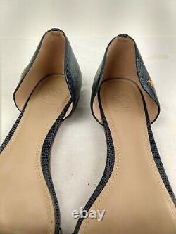 Women's 11 Tory Burch Blue Savannah Open Toe Shoes