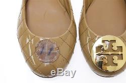 Womens TORY BURCH caramel patent leather flats with emblem sz. 11 NEW! $225